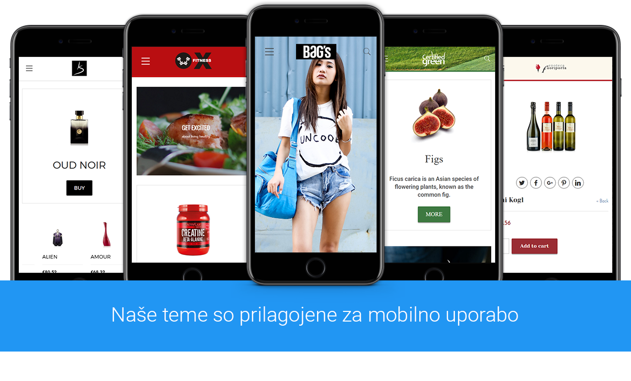 Shopamine themes are mobile ready